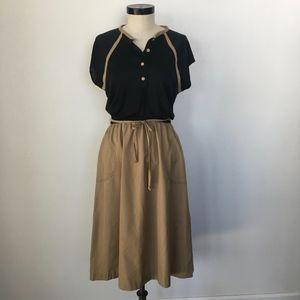 Vintage Short Sleeve Shirt Dress Size M